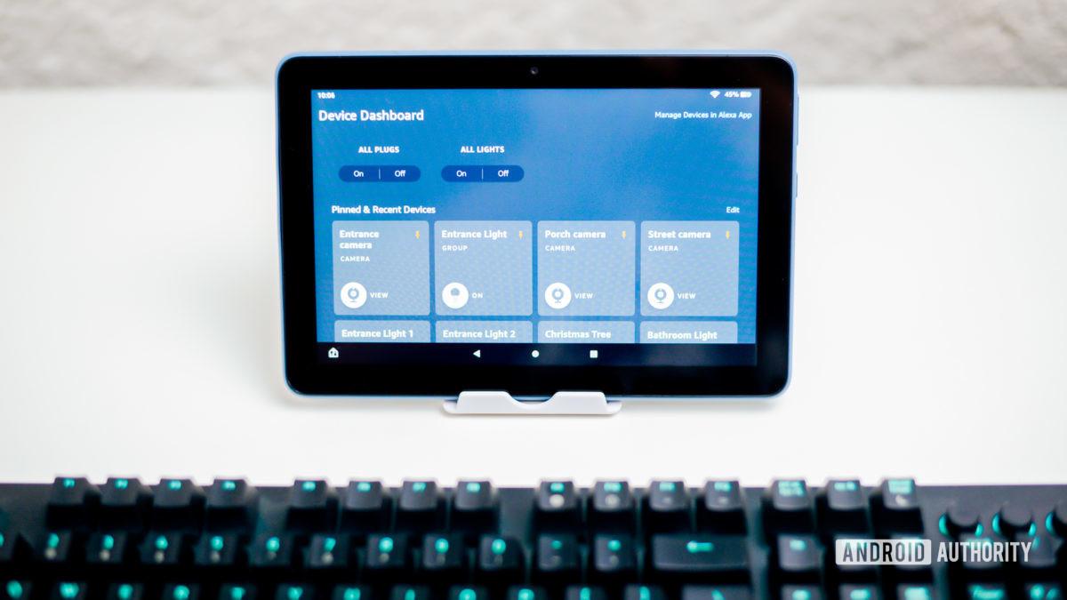 Панель управления Amazon Fire HD 8 Devide 3