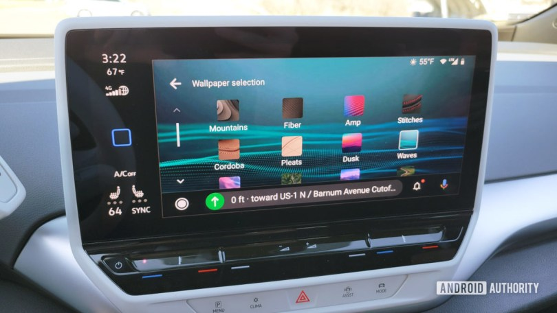 Android Auto in Volkswagen ID.4 Background Choices