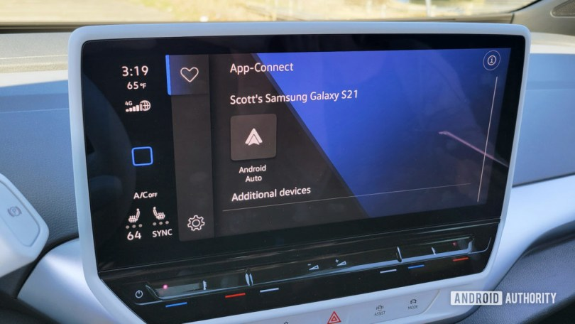 Android Auto in Volkswagen ID.4 Start Android Auto
