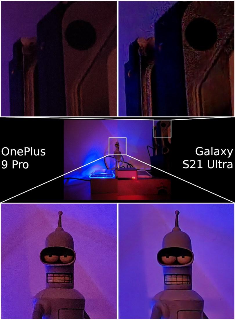 OnePlus 9 Pro vs Samsung Galaxy S21 Ultra camera night