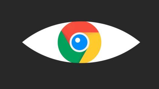 Google FLoC spy graphic showing the Google Chrome logo as as eye