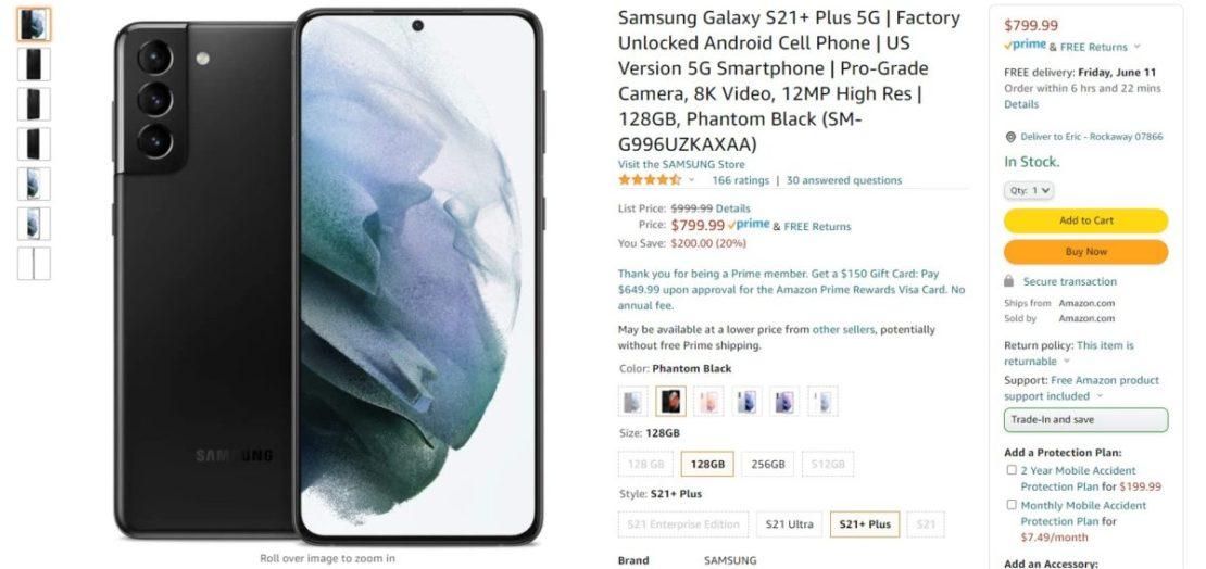 Samsung Galaxy S21 Plus Amazon Deal