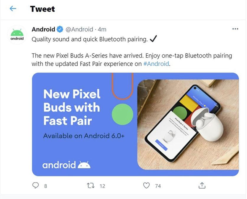 google pixel buds 2021 tweet