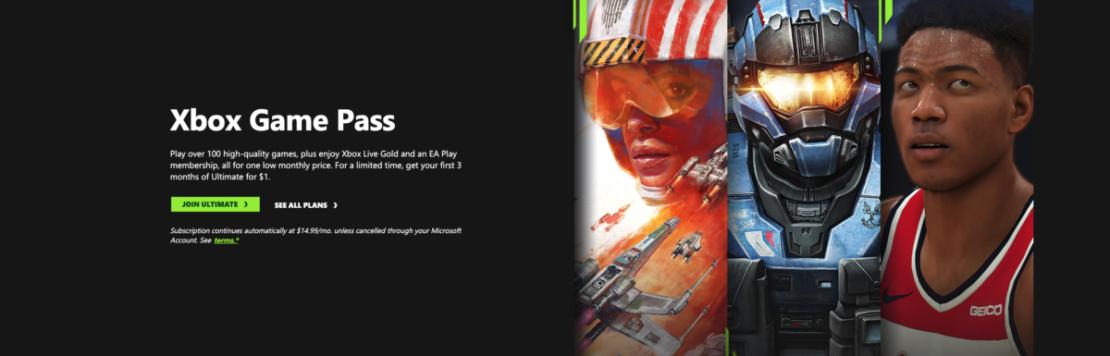 xbox game pass ultimate deal screenshot 1