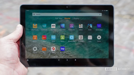 Amazon Fire HD 10 Plus in the hand