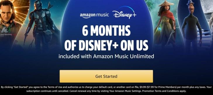 Amazon Music and Disney Plus Promo Image 1