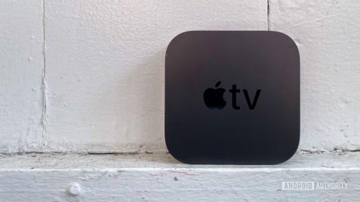 Apple TV 4K standing up