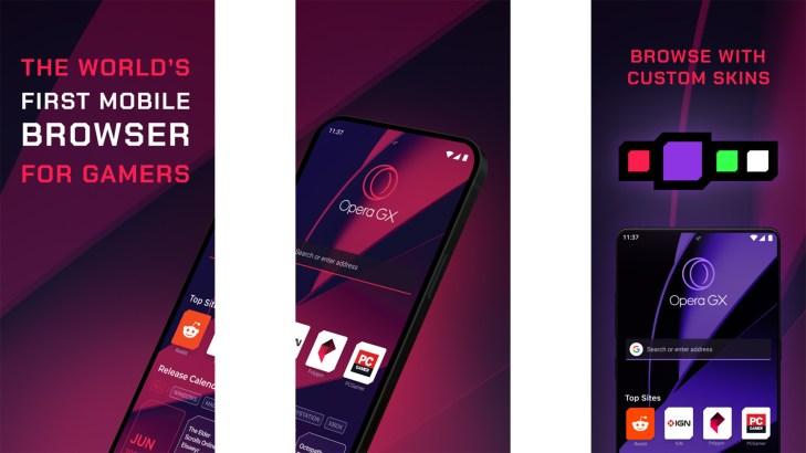 Opera GX screenshot
