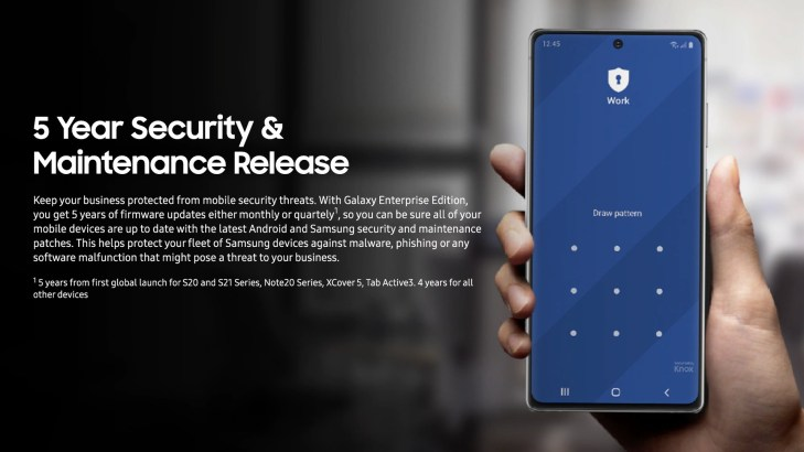 Samsung five years security updates