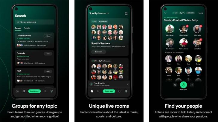 Spotify Greenroom screenshot
