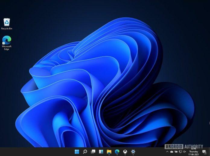 Windows 11 home screen
