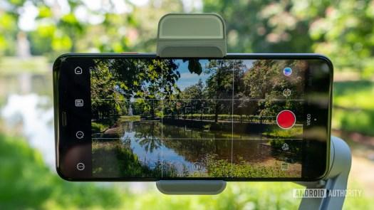 Zhiyun Smooth Q3 with phone mounted horizontally