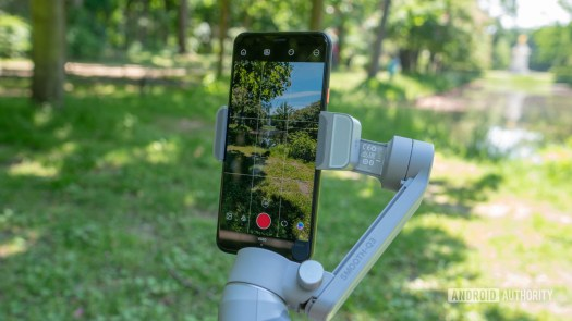 Zhiyun Smooth Q3 with phone mounted vertically