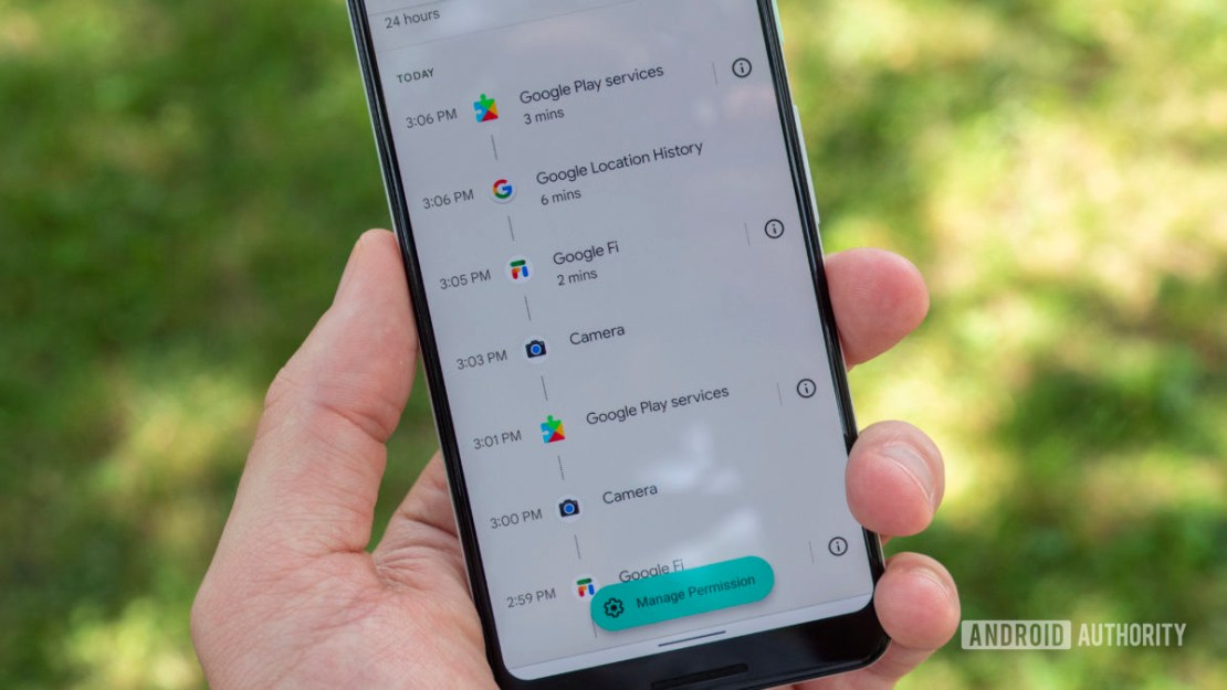 android 12 beta 2 privacy dashboard location usage permission history