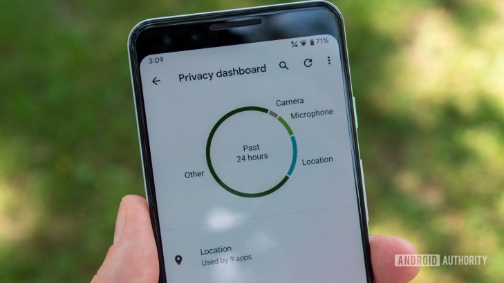 android 12 beta 2 privacy dashboard pie chart 1
