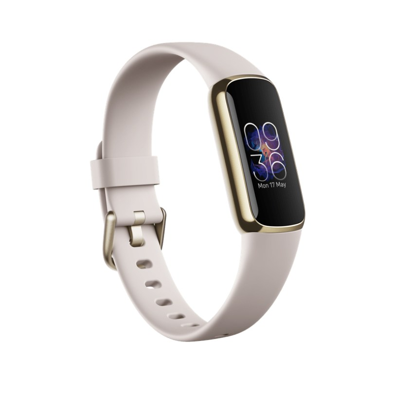 fitbit luxe review lunar white soft gold stainless steel