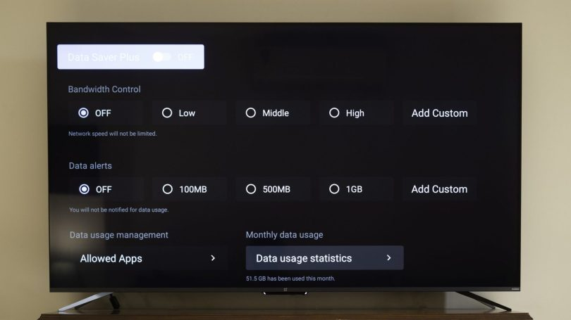 oneplus tv review bandwidth control