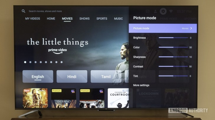 oneplus tv review with picture modes control