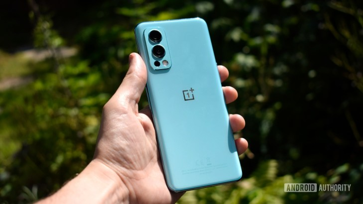 OnePlus Nord 2 5G in hand back