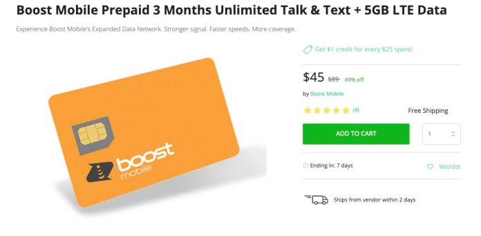 Boost Mobile 5GB Deal