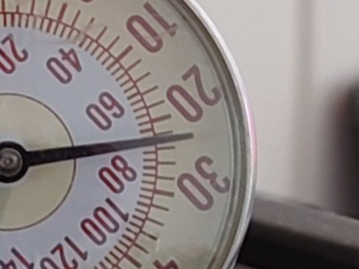 Sony Xperia 1 III digital zoom of a scales.