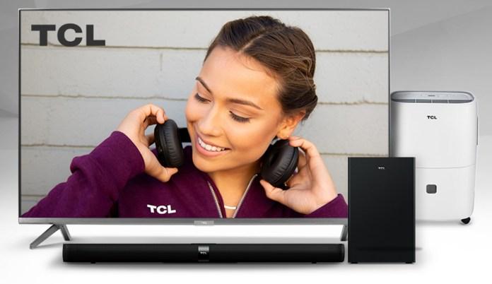 TCL 65 inch 5 Series 4K UHD HDR QLED Roku Smart TV Promo Image