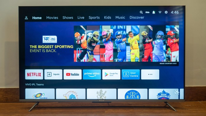 Mi TV 5x 55 inch review patchwall display