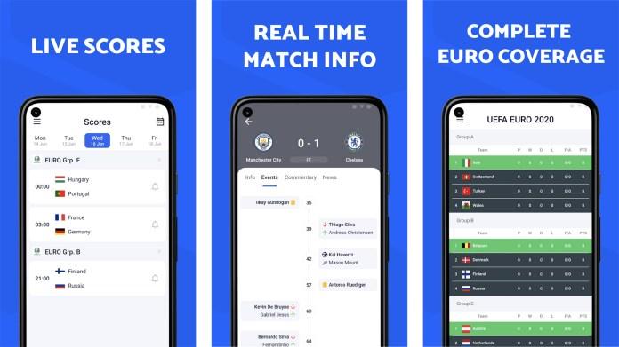 Captura de tela do Opera Football