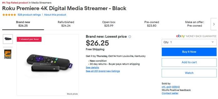 Roku Premiere Ebay Deal