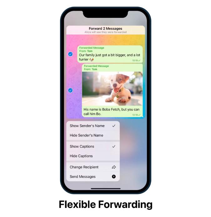 Telegram flexible forwarding
