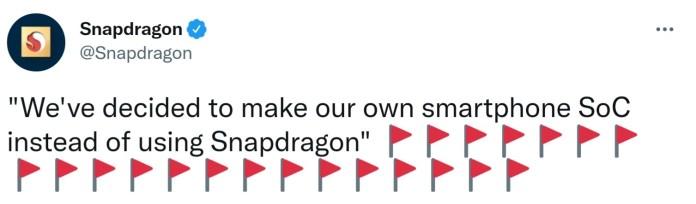 Snapdragon twitter custom chipset