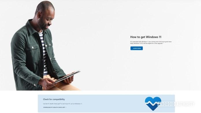 Windows 11 official website