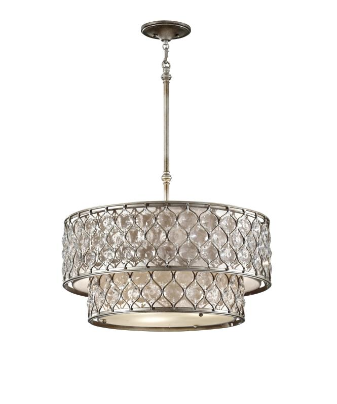 Shown In Burnished Silver Finish And Linen Shade