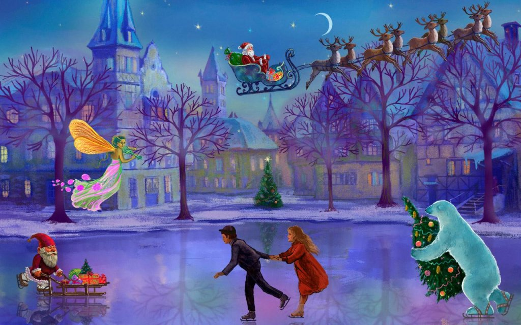 Falling Snow Live Wallpaper Apk Christmas Rink Live Wallpaper Download Apk For Android