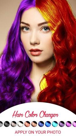 hair color change photo