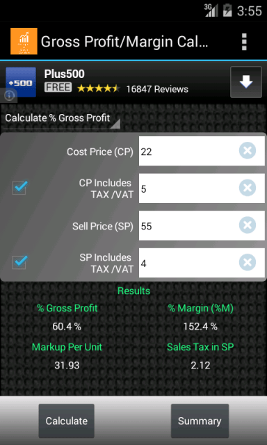 Gross Profit/Margin Calculator | Download APK for Android - Aptoide