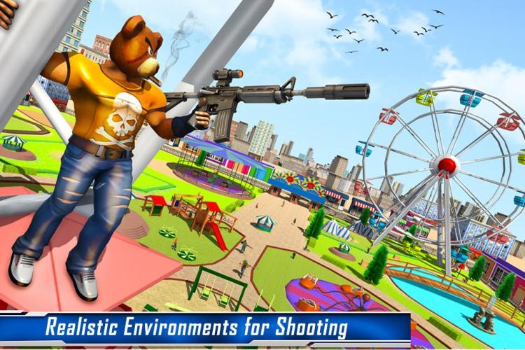Teddy Bear Gun Strike Game: Counter Shooting Games Ver. 2.7 MOD APK | DUMB ENEMY | NO ADS