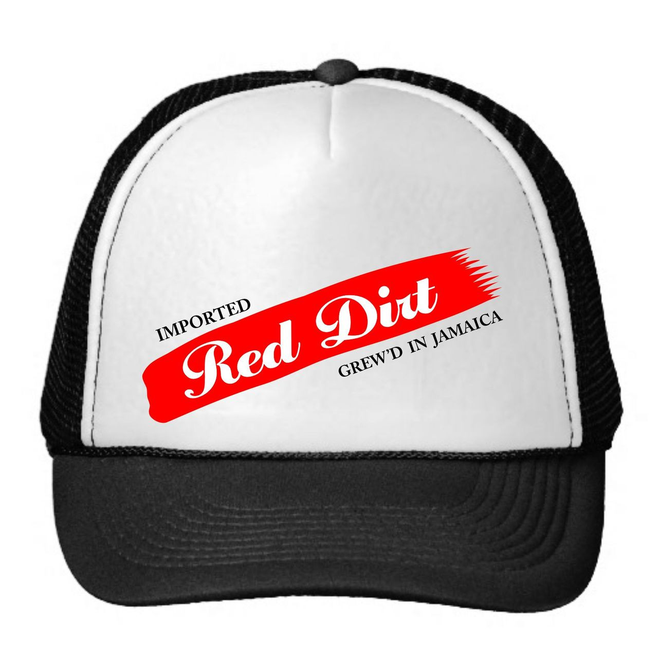 Black Cotton Label | Red Dirt Snapback