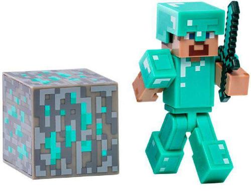 Minecraft Series 2 Steve with Diamond Armor Action Figure
