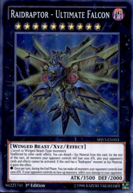 YuGiOh Shining Victories Single Card Super Rare Raidraptor