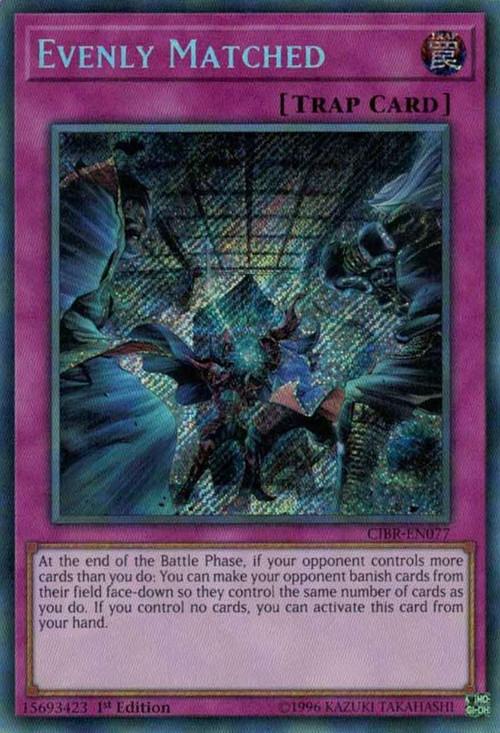 YuGiOh Circuit Break Single Card Secret Rare Evenly Matched CIBREN077  ToyWiz