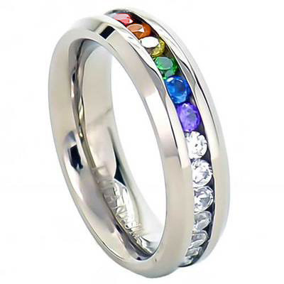 Full Clear & Rainbow String  Lesbian & Gay Engagment