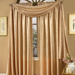 Elegant Kitchen Curtains Valances Green Cabinets Whisper Crushed Satin Rod Pocket Curtain Panels ...