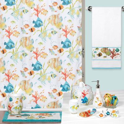Rainbow Fish Shower Curtain  Bathroom Accessories