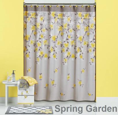 Spring Garden Shower Curtain & Bathroom Accessories Linens4Less Com