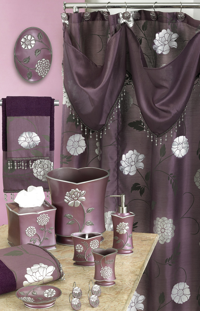 Avanti Shower Curtain Amp Bathroom Accessories Purple