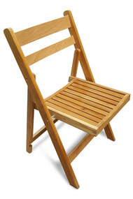 folding wooden chairs dining room chair covers target australia the best deals on event furniture front slatted natural