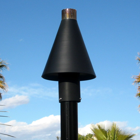 Black Cone Automated Tiki Torch Natural Gas Or Propane