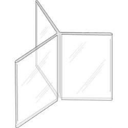 5x7 Clear Plastic ThreePanel SixSided Sign Holder DSLHK