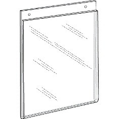 8x10 Portrait Wall Mount Sign Holder With Holes DSLHP810